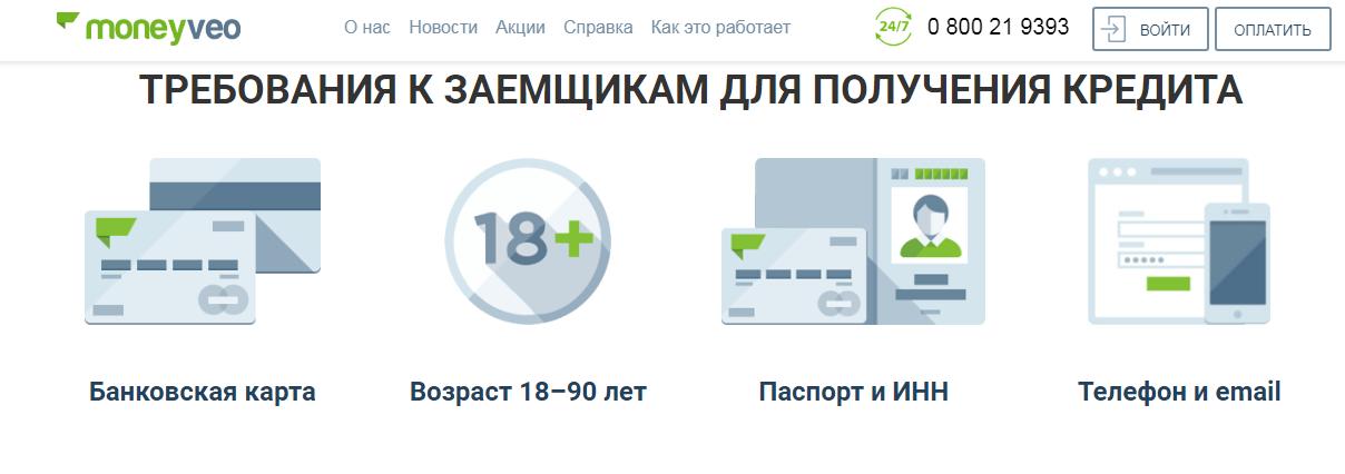 манивео кредит онлайн личный